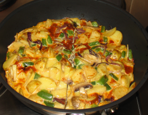Green Pepper and Mushroom Frittata