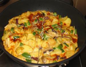 Green Pepper and Mushroom Frittata