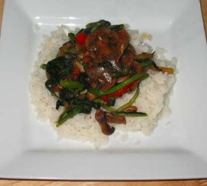 Stir Fry Vegetables with rice