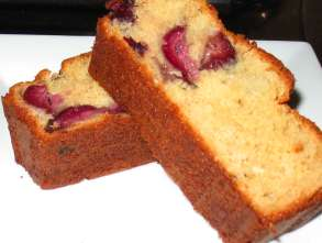 Fresh cherry bread, yum!