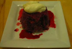 Summer Pudding served with Creme Fraiche