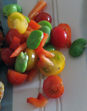 Tomato and Broad Bean Salsa