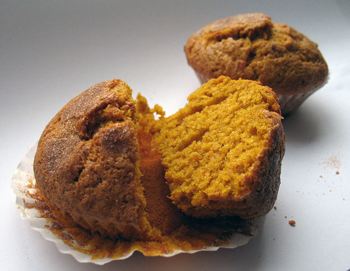 Cut open Pumpkin Muffin