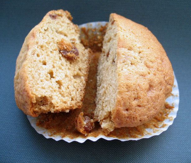 Sliced Ginger Muffin