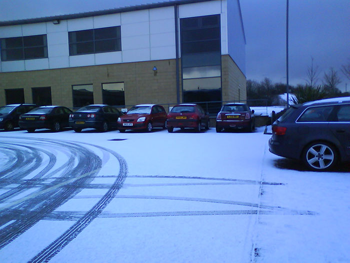 Snow in Car park