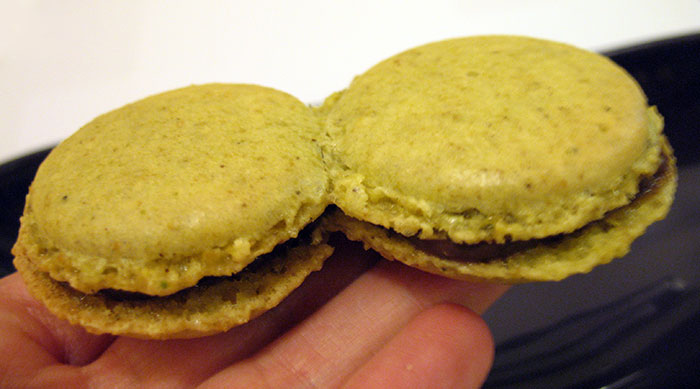 Conjoined Pistachio Macarons
