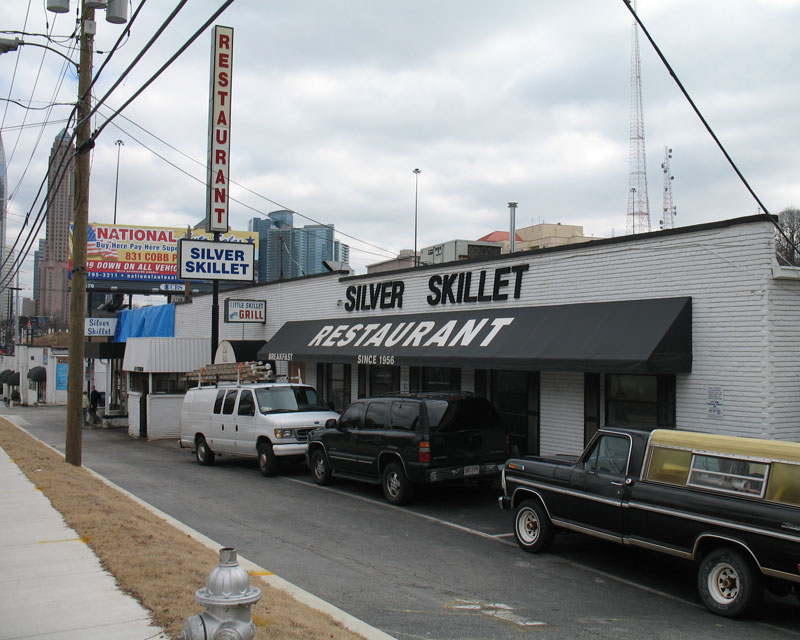 Outside the Silver Skillet
