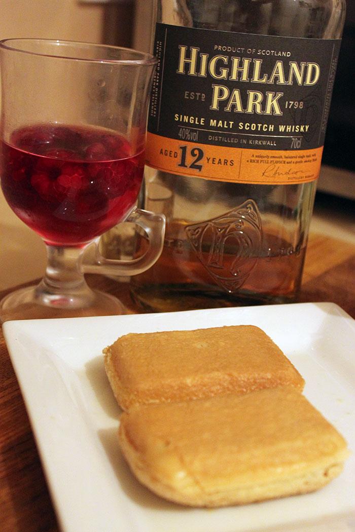 Soaking sponge in whisky