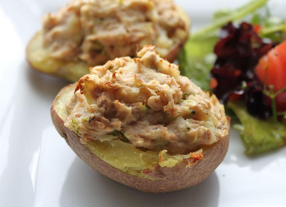 Tuna Twice Baked Potato