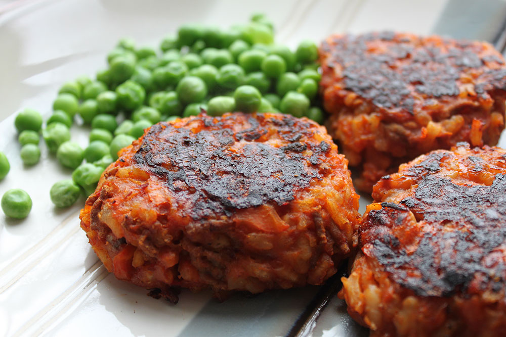 Bolognese Risotto Cakes