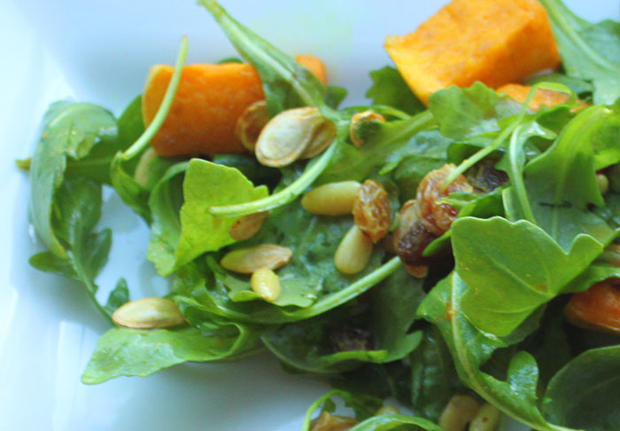 Butternut Squash, Rocket and Pine Nut Salad