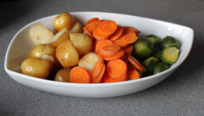 Veggies (Potatoes, Carrots and Brussel Sprouts)