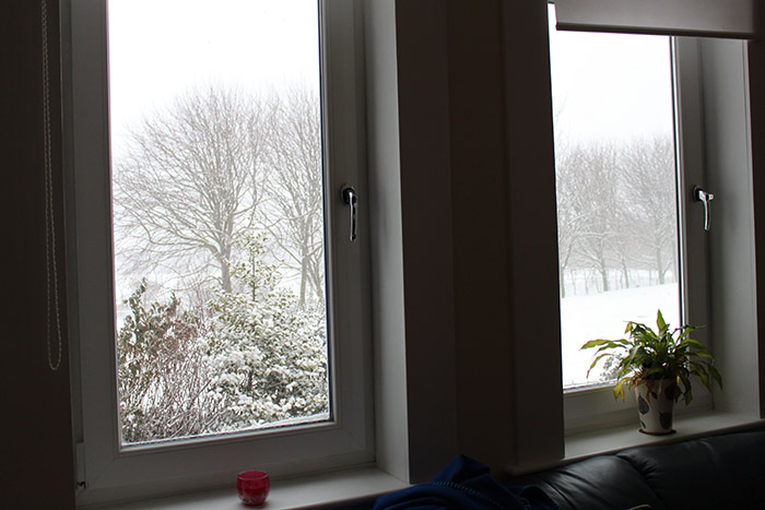 Snow outside our window