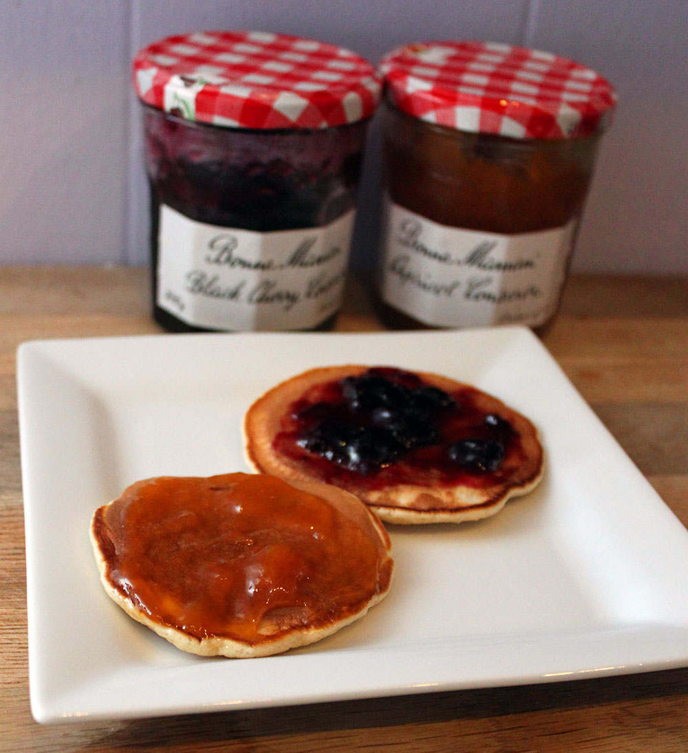 Scotch Pancakes with Jam